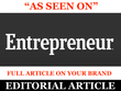 Publish full featured article on your brand DA 92 Entrepreneur