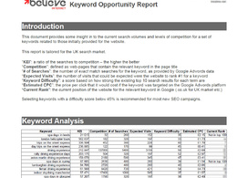 Provide an in-depth SEO keyword research report