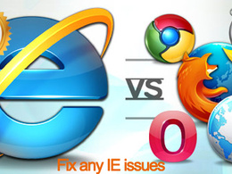 Fix any IE browser issue for you