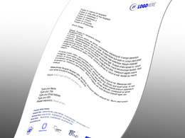Design one page letterhead template in microsoft word or ms publisher