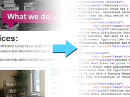 Turn your PSD file into a HTML/CSS web page