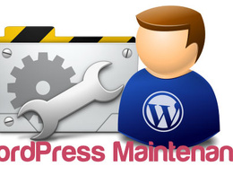 Do WordPress site maintenance