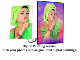Digitally paint your own pinups and portraits