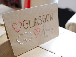 Create a personalised hand stitched card