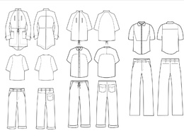 Create fashion design specification technical drawings