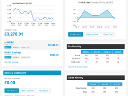 Provide online insight to the financial performance of your business