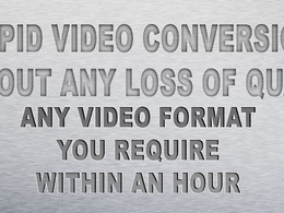 Convert any video file to any video format you require