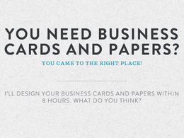 Design your business cards and papers