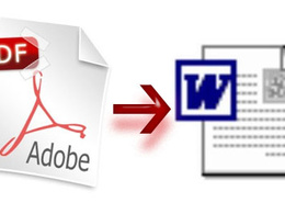 Convert PDF to word (.doc,.docx )or vice versa
