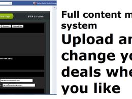 Install an app so you can run deals on facebook