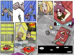 Create a comic book spread