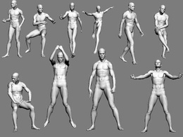 Create a rigged 3D human model in high poly highly detailed ready for animating