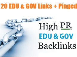 Manual create 20 edu and gov links to your site + Pinged (Improve SEO Ranking)