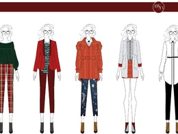 Design your fashion collection (5 outfits)