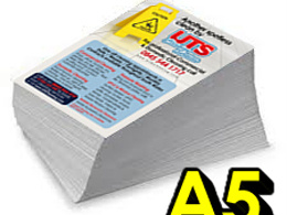 Print 5,000 A5 flyers in full colour on both sides and deliver