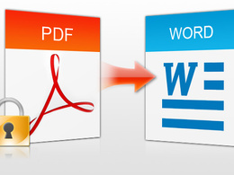 Convert  your pdf to word document
