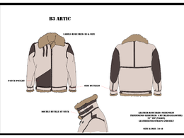 Provide 2 detailed technical fashion drawing