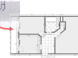 Draw floor plan, redraw from sketch