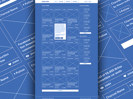 Create a 5-page wireframe for any kind of website, factoring the user experience