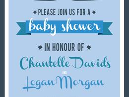 Design a bespoke baby shower invite