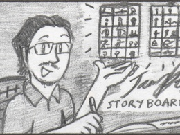 Produce a page of storyboards