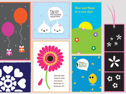 Create an illustrative greeting card digitaldesign in any style with unlimited drafts