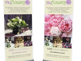 Design an exhibition pop-up banner or poster (any size)