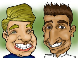 Create funny caricatures as the perfect gift