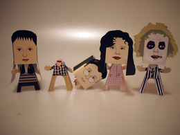 Make a 3D paper character model of you, your friends and family, pets