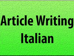 Write a 500 words unique article in Italian