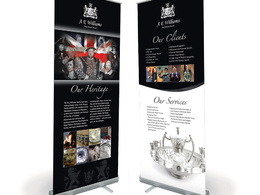 Design an exhibition pop-up / roll-up banner, panel or poster