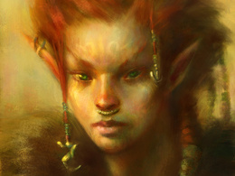 Paint your portrait in a fantasy style
