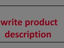 Write Product Descriptions and/or Reviews on your given products, wears, websites etc