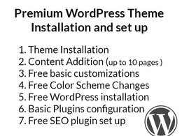 Install and set up any WordPress theme with customizations