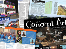 Design an exciting editorial spread