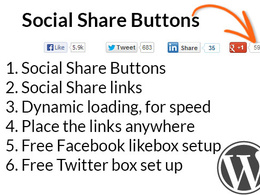 Add social share links/buttons to your WordPress website