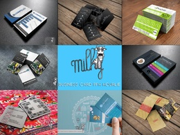 Design your double sided business card with full psd source included