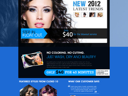 Design custom, high end and modern look web layout home page