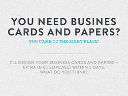 Design your business cards and papers + extra
