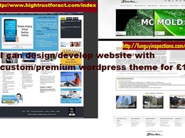 Design/develop website/Ecommerce site with the help of custom/premium wordpress theme