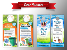 Design your door hanger, postcard or rack card