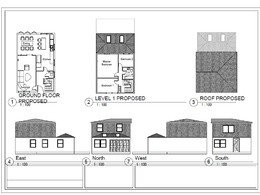 Draw a full set of drawings ( elevations, sections, and floor plans)