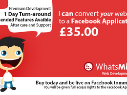 Convert your website to a Facebook Application