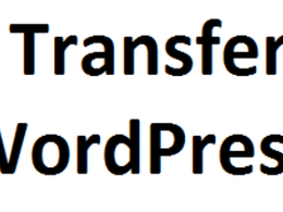 Transfer WordPress site to another host