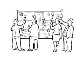 Create illustrative, fun-to-look-at, winning business model