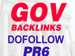 Will build 20+ PR 9 - 6 high PR dofollow .gov links from unique websites to your site