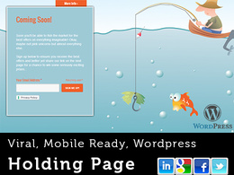 Create a stunning, viral holding page to promote your new website (mobile ready)