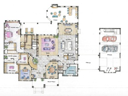 Create  attractive interior design sketch / floor plan
