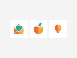 Design a set of 3 custom icons