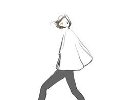 Sketch an original fashion design illustration